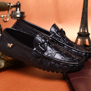 Leather Print Loafers