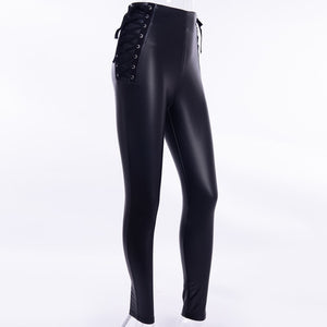 Lace Up Elastic Leggings
