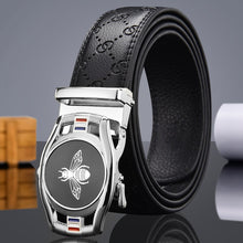Bee Buckle Leather Belt