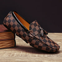 Tassels Checker Loafers