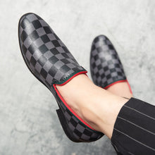 Plaid Leather Flats
