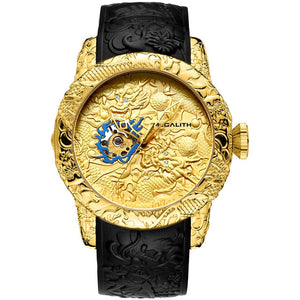 Gold Dragon Sculpture Watches