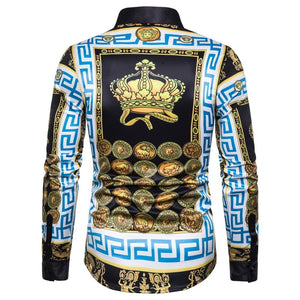 Fashion Print Golden Shirts
