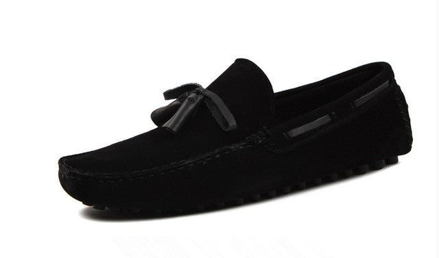 Sky Suede Leather Tassel Loafers