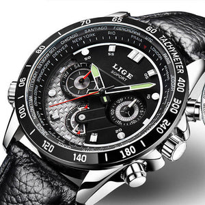 LIGE Quartz Military Sport Watch