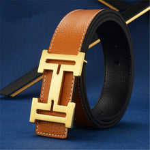 H buckle Leather Belts