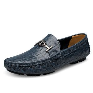 Handmade Alligator Leather Printed Shoes