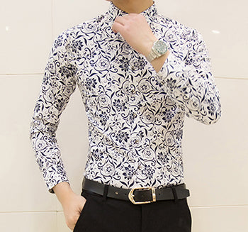 Slim Fit Floral ButtonUps
