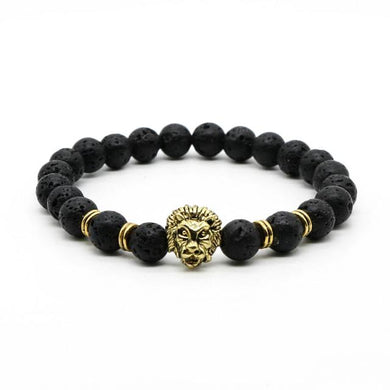 Gold Head Lava Stone Beaded Bracelets