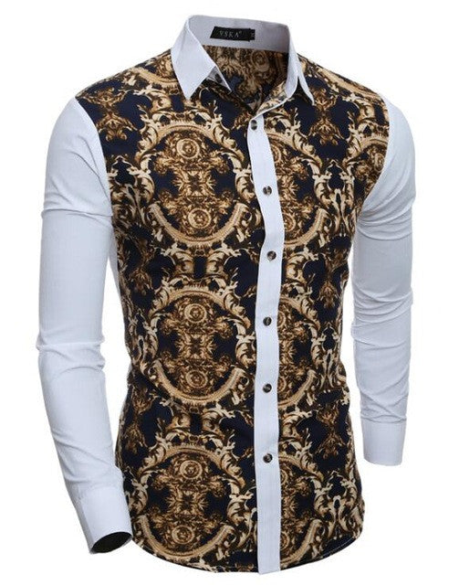 Hawaiian Style Luxury Print Shirt