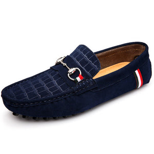 Embossed Suede Italian Loafers