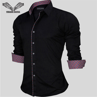 VISADA JAUNA European Casual Style Long Sleeve Shirt