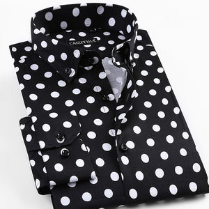 Dot Printing Long Sleeve Shirt