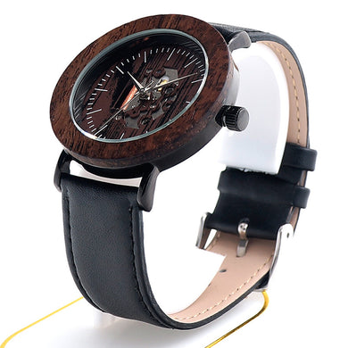 BOBO BIRD Black Wooden Watches