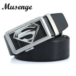 Superman Buckle Leather Belts