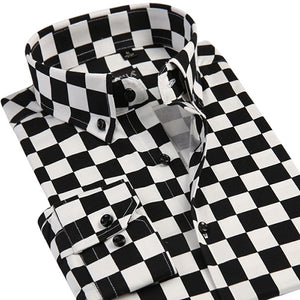 Checker Print Dress Shirt