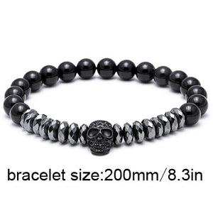 Titanium Skull Bangle Bracelet