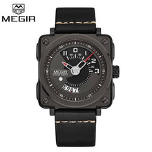 Megir Leather Fashion Wrist Watch