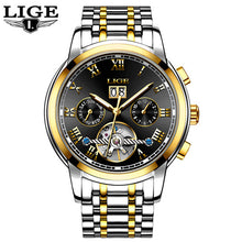 LIGE Top Brand Luxury Mechanical Watches