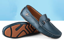 Leather Slip On Loafers