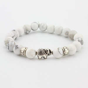 Natural Stone Bead Elephant Lovers