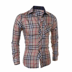 Boutique Slim-Fit Plaid Shirts