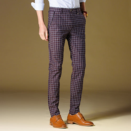 Plaid Dress Pants