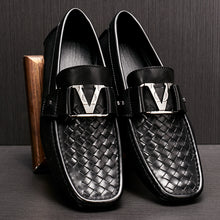 V Buckle Leather Shoes