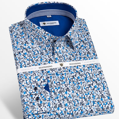 Dobby Print Slim Fit Shirts
