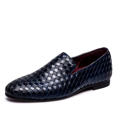 Braid Leather Oxford Loafers