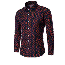 Grid Print Dress Shirts