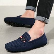 Z Buckle Embossed Loafers