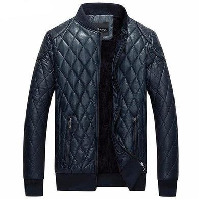 Varsanol Leather Bomber Jacket
