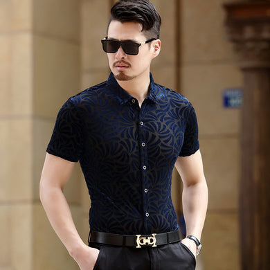 Pleuche Slim Fit Shirts