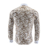 Noble Floral Prints Gold Shirt