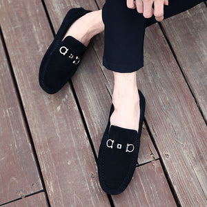 Suede Design Loafers