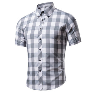 Short Sleeve Plaid Shirts