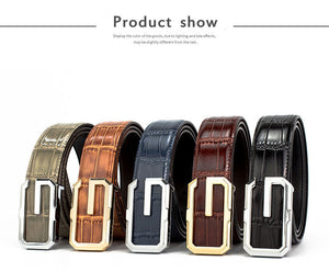 G Fashion Bamboo Grain Leather Belts