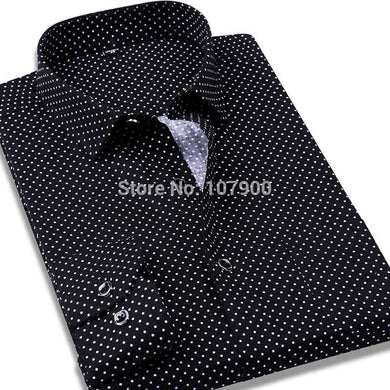 Slim Fit Dot Dress Shirt