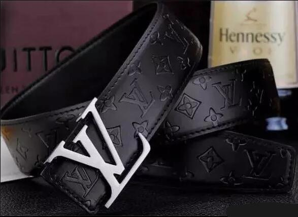 LV Print Leather Belts