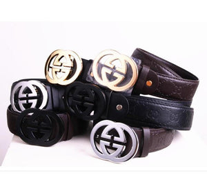 GG Print Design Leather Belts