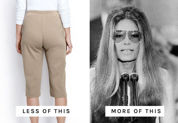 Dirty Words, Ugly Pants. Extra Official. Resist. Feminist apparel. Gloria Steinem.
