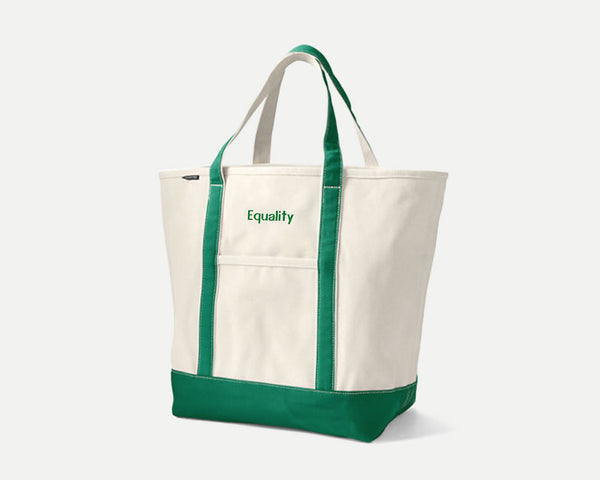 Dirty Words, Ugly Pants. Equality custom monogrammed resistance tote by Extra Official, designed by Elizabeth Azen