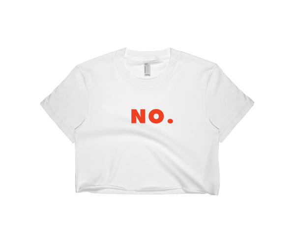 NO. Women's Crop Tee