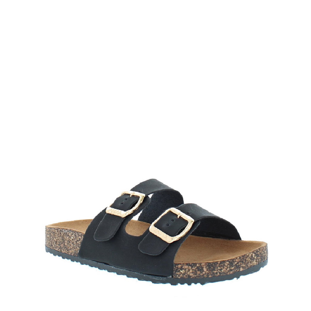 2Buckle Kids Casual Sandal (BLACK)