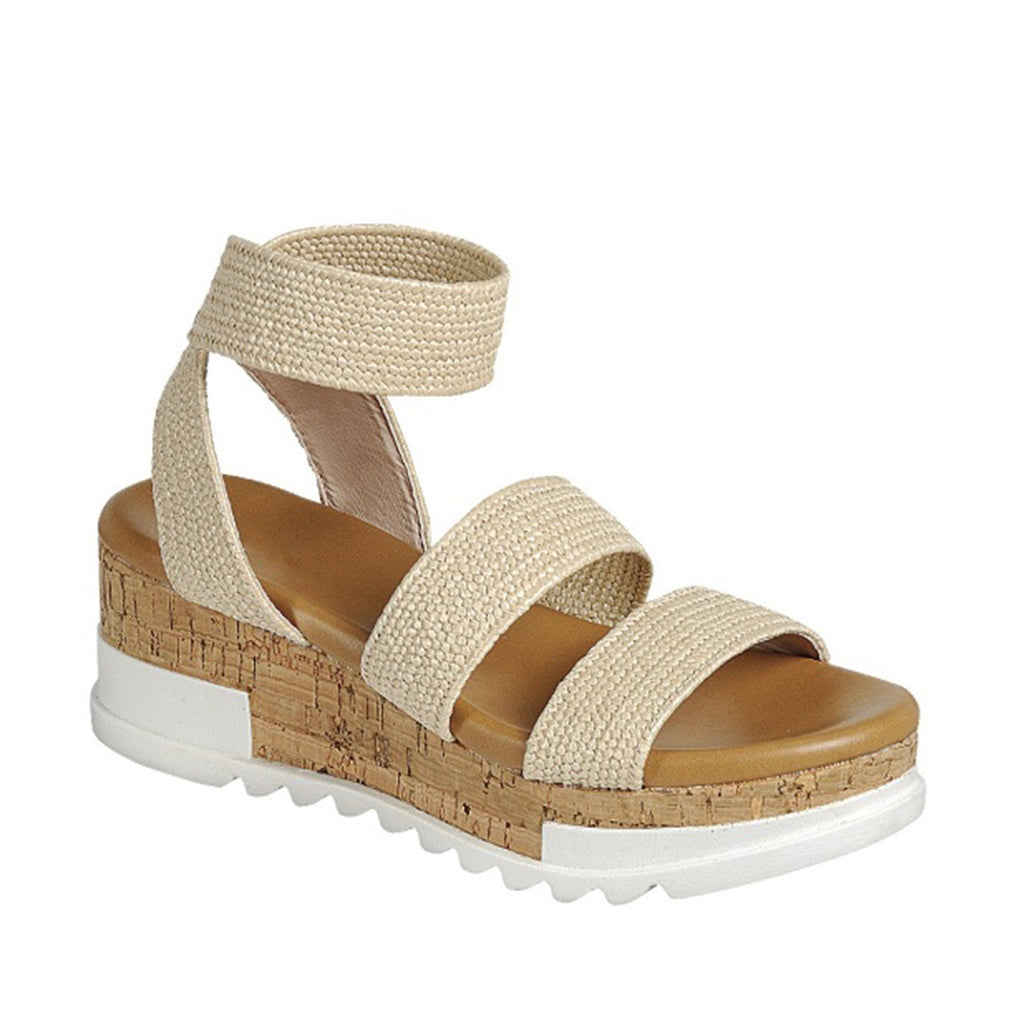 Cork Platform Sandal (NATURAL)