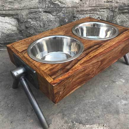 Medium Stylish animal pet feeder dining set