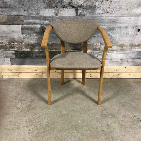 Alexis solid oak beige material chair