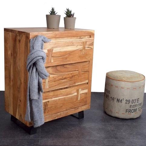 Jungle industrial acacia chest of drawers