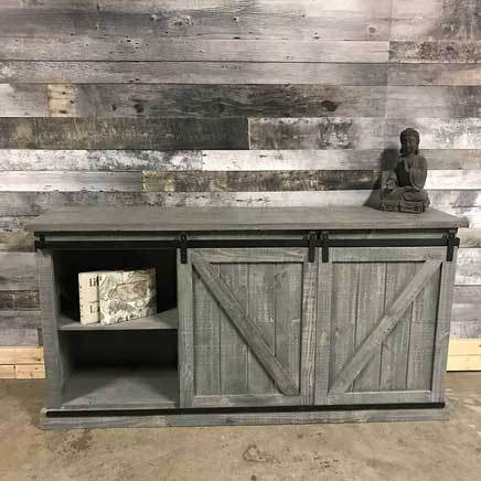 Bella barn door TV stand grey 72 inch